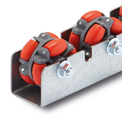 Conveyor rollers for multi-directional runners