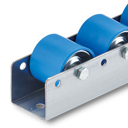 Conveyor rollers for package runners